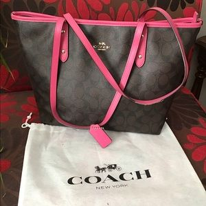 Coach Women's Crossgrain leather tote